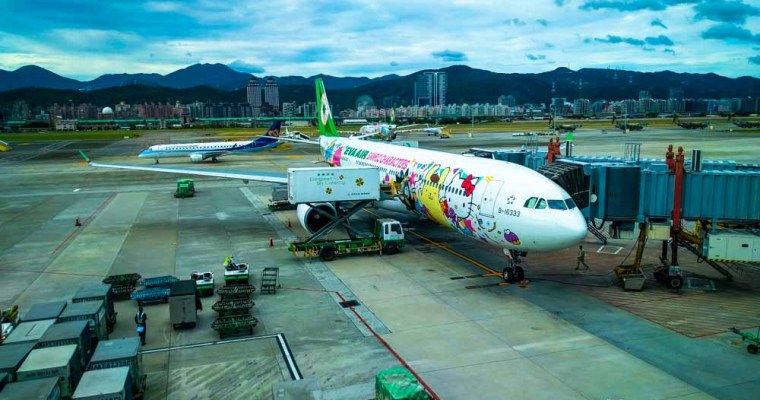 Traveling on the Hello Kitty Plane: Tokyo to Taipei