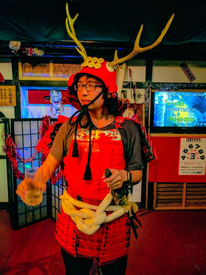 samurai costume osaka
