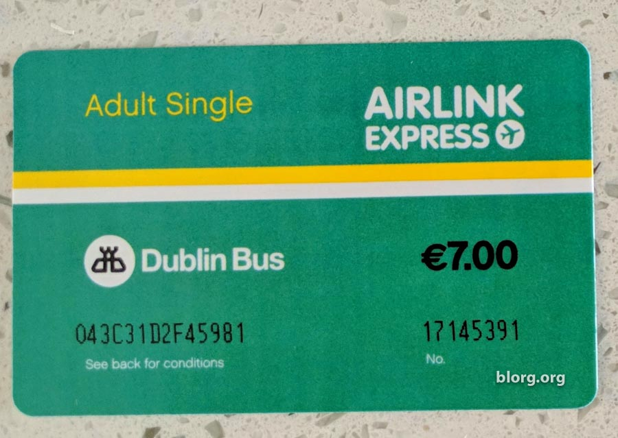 Dublin Airlink Express Bus From Dublin Airport To The City Center