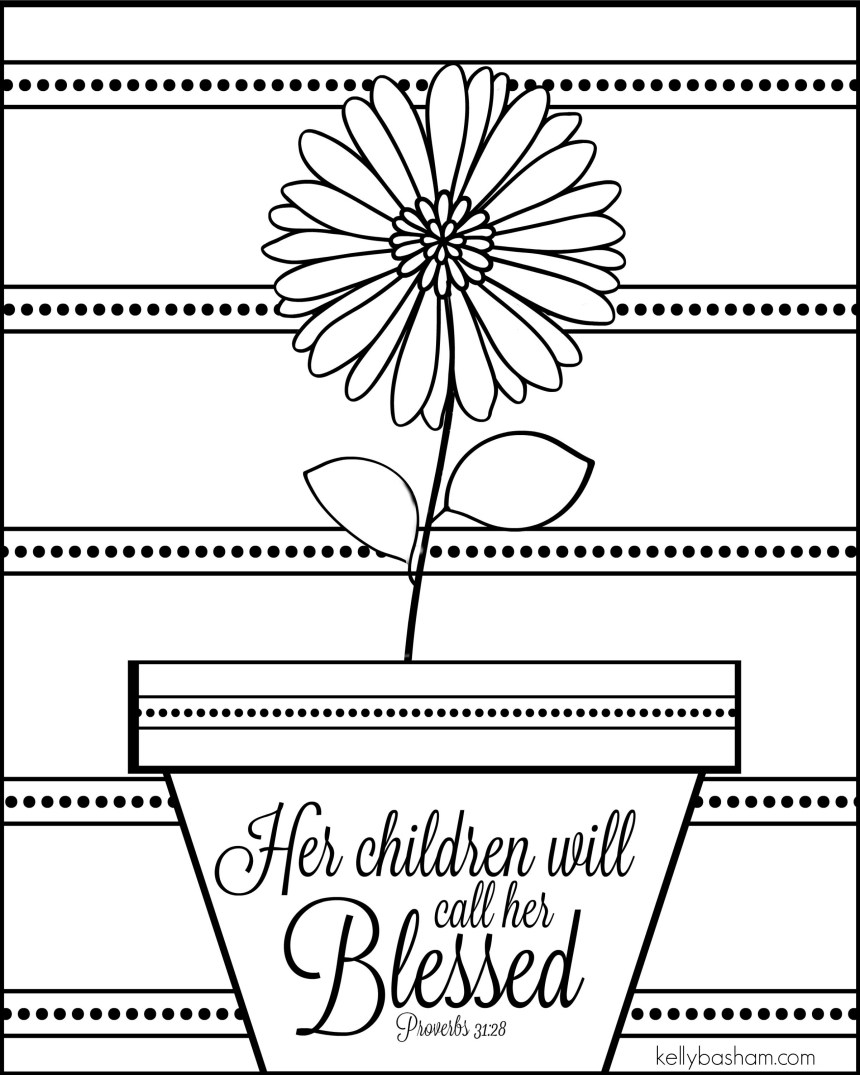 Mothers Day Color Sheet
