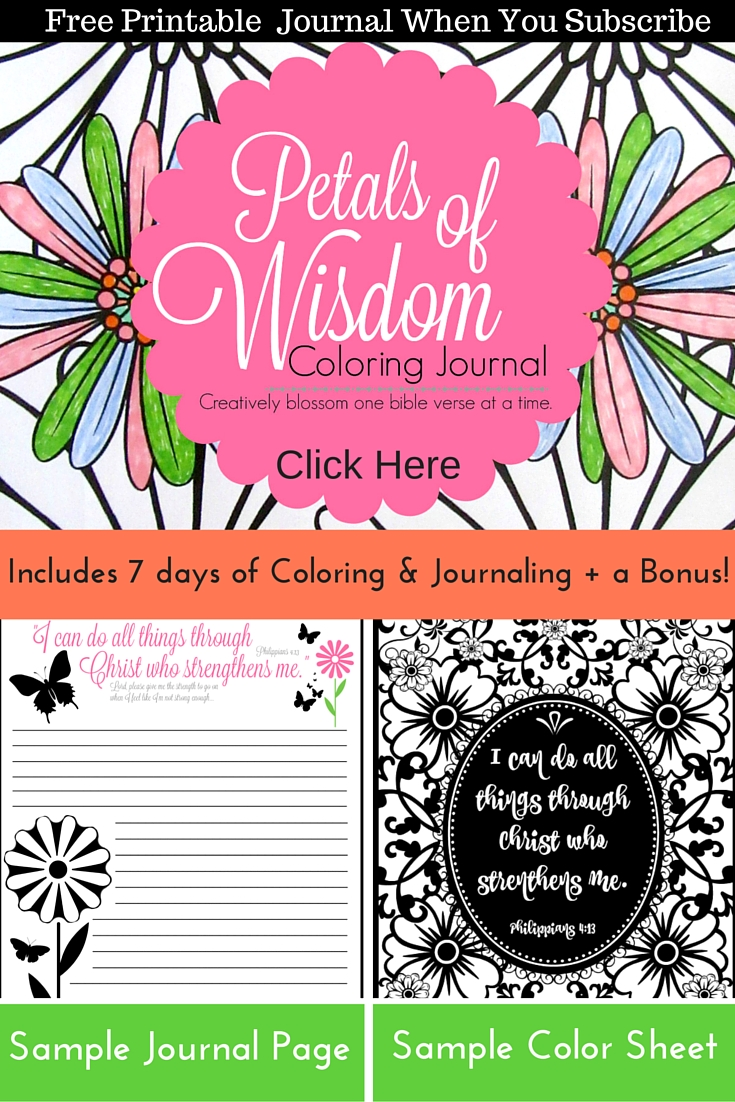 Get my Petals of Wisdom Coloring Journal free when you subscribe to my newsletter.