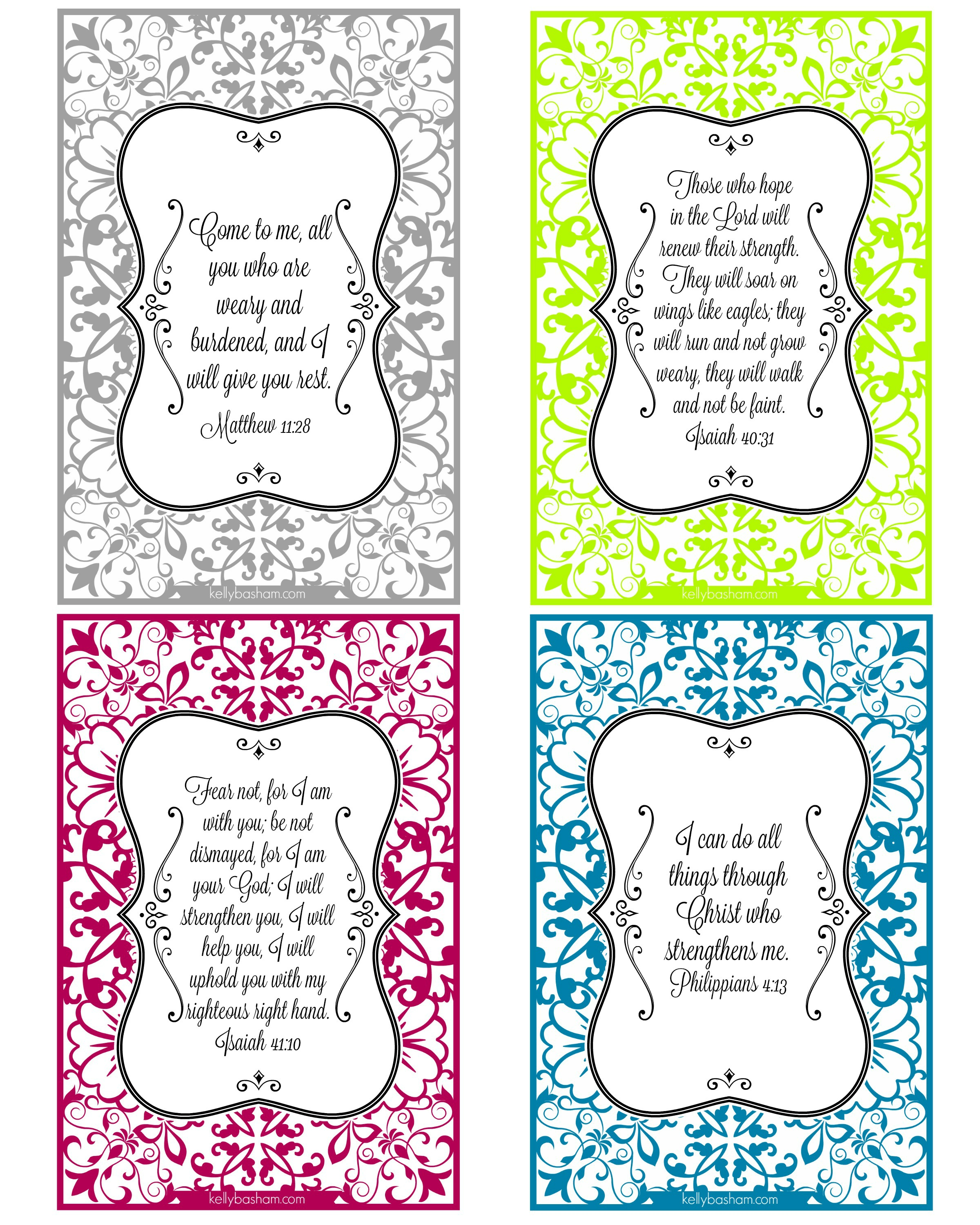 Free printable scripture cards.