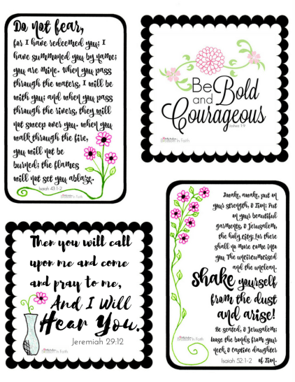 blossom in faith printable scripture cards