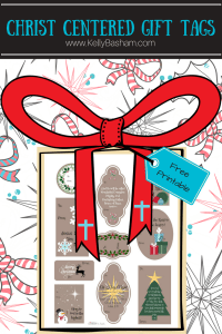 Free Printable Christ centered Christmas gift tags.