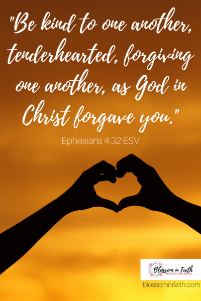Learning to put the needs of others before our own. _Be kind to one another, tenderhearted, forgiving one another, as God in Christ forgave you. Ephesians 4:32 ESV