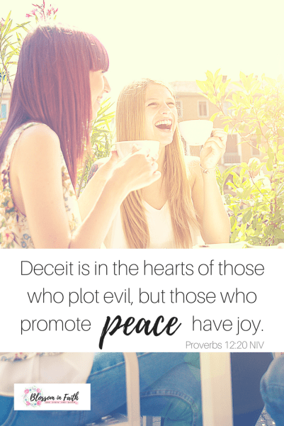 What to do when you're tempted to give bad advice. A study on the fruit of peace. Proverbs 12_20 NIV