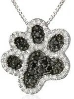 Valentines Day Gift Ideas dog paw print necklace