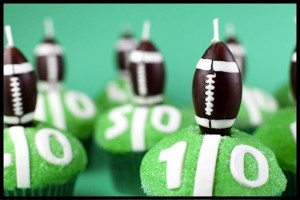Football Idea of The Day: Football Cupcakes