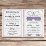 Fun vintage Free wedding program