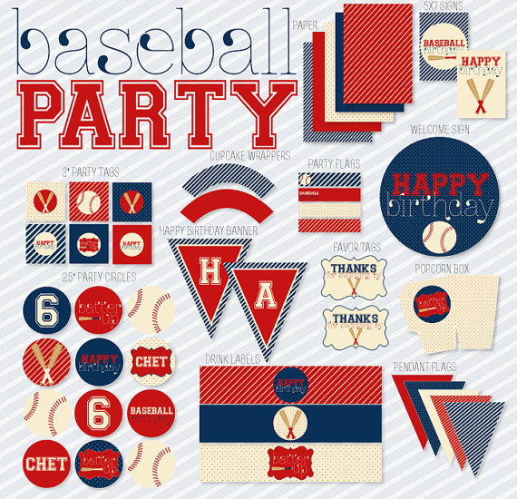 Baseball Party Printables!
