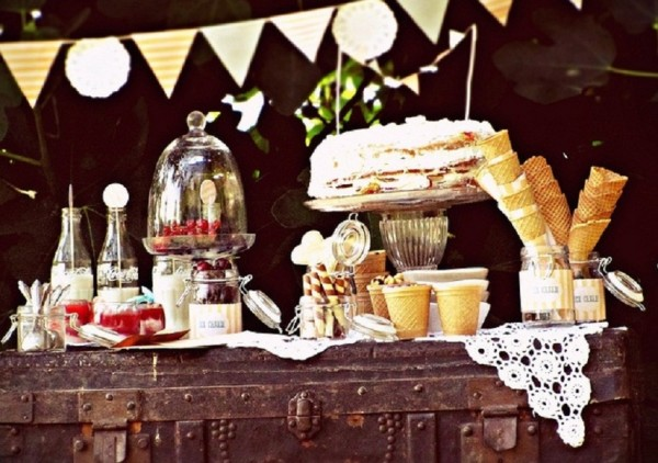 Vintage chic engagement photos the sweetest occasion the - Ice Cream Party B Lovely Events