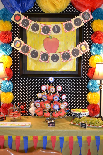 back to school party with cute food