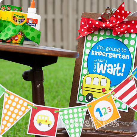 Free Back To School Printable Banner and Sign