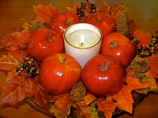 Apples and Leaves decor for fall