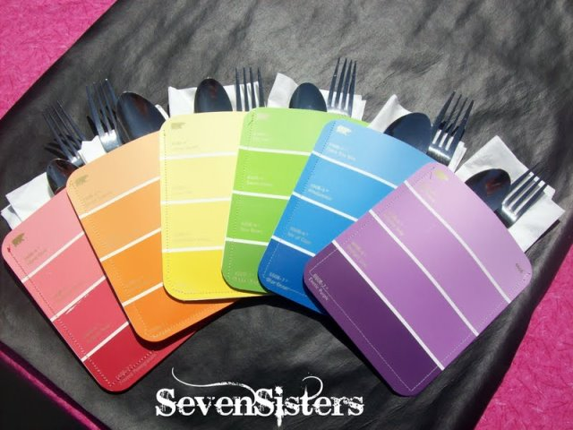 Paint Chip Napkin Holders