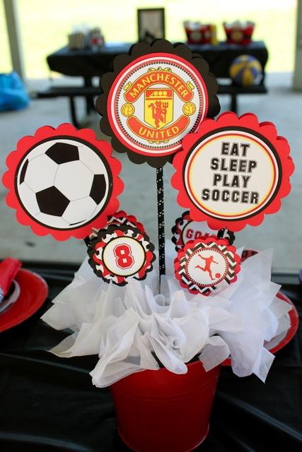 Cute soccer centerpieces