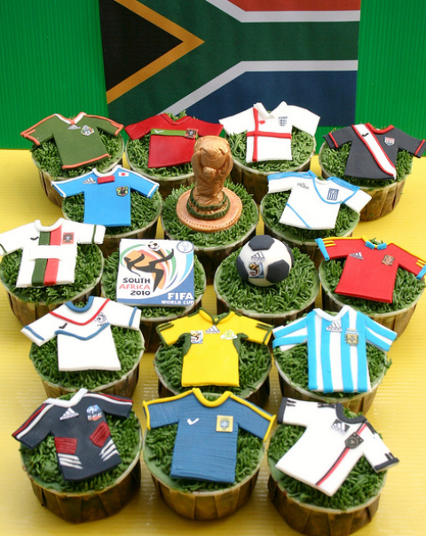 FIFA 2010 World Cup Cupcakes