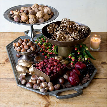 Fall Decor with Nuts