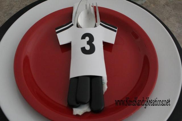 soccer party jersery napkin holder printable
