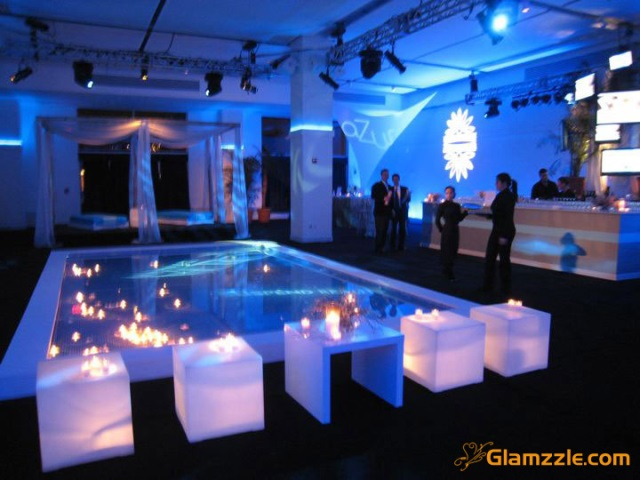 Blue ombre party b lovely events for Event planning decorating ideas