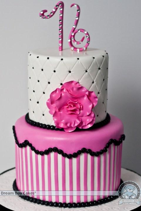 Chic sweet 16 cake
