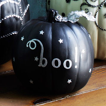 Love this black and silver pumpkin