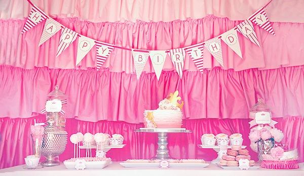 Pink Ombre Dessert Bar