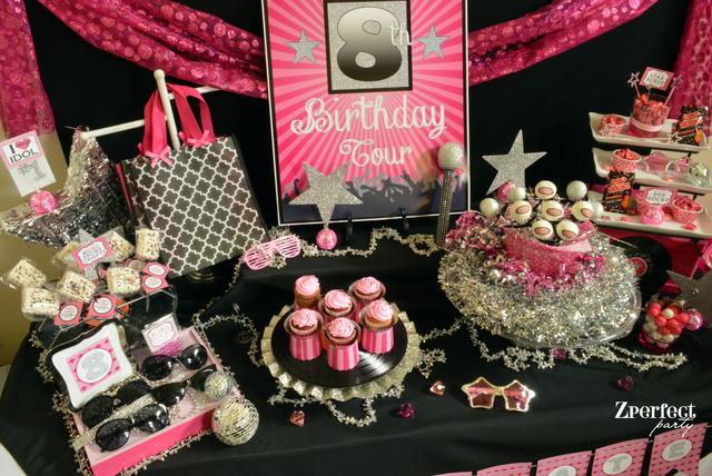 Rockstar party dessert table