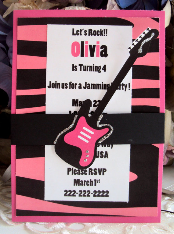 Rock On Sista A Girls Rock Star Party B Lovely Events – Rock Star Party Invitations