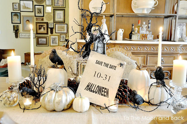 Spooky crow Halloween Tablescape
