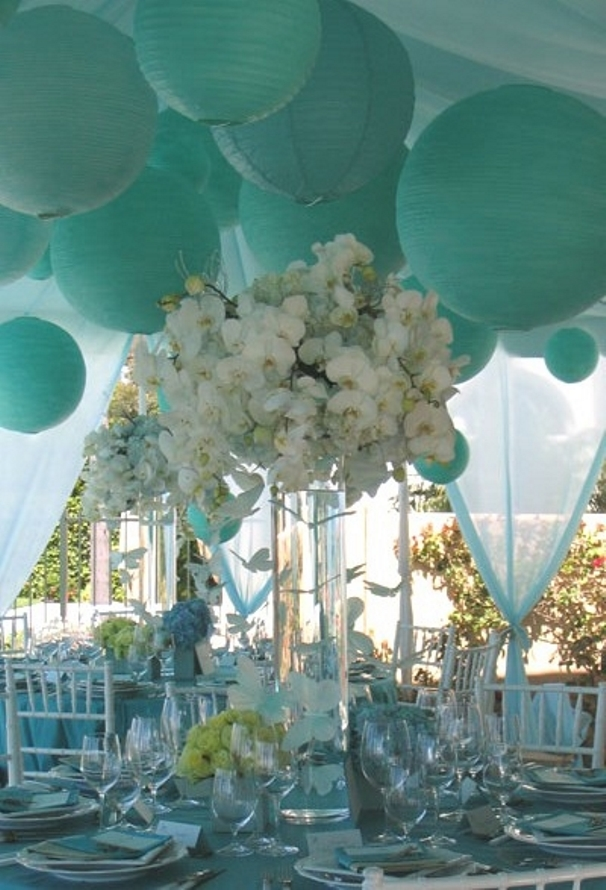 White And Tiffany Blue Wedding