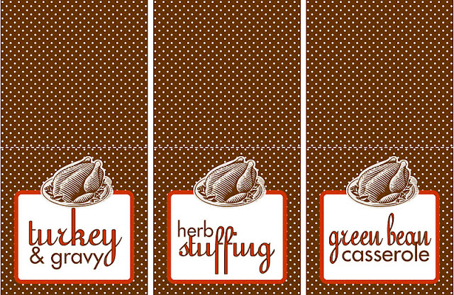 Free Printable Thanksgiving Food Labels