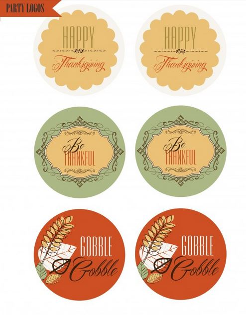 Free Thanksgiving printable set