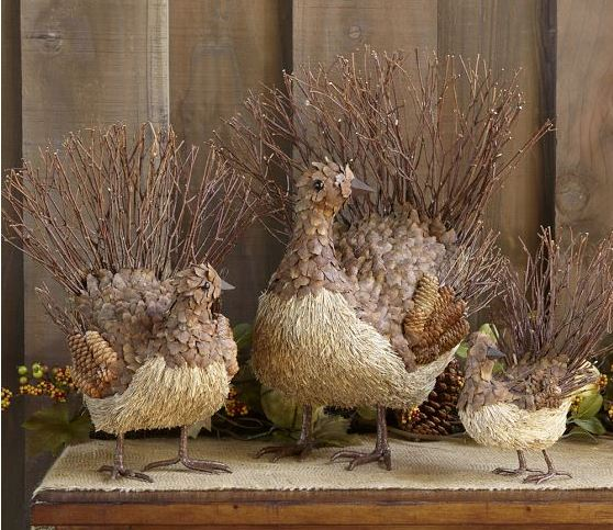Rustic Twig Turkey Decorations