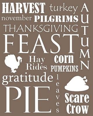 Thanksgiving Subway Art Free Printable