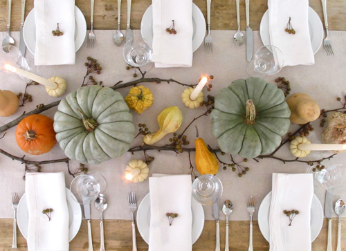 pumpkin and squash Thanksgiving centerpiece