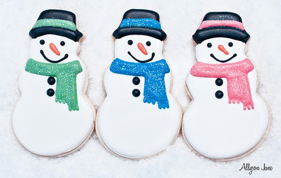 Adorable Snowman cookies