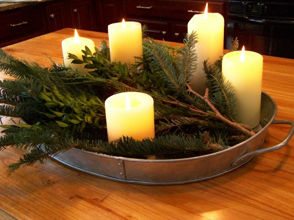 Christmas Evergreen Centerpiece