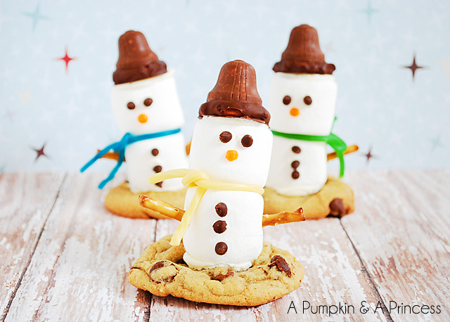 Cute snowman treats