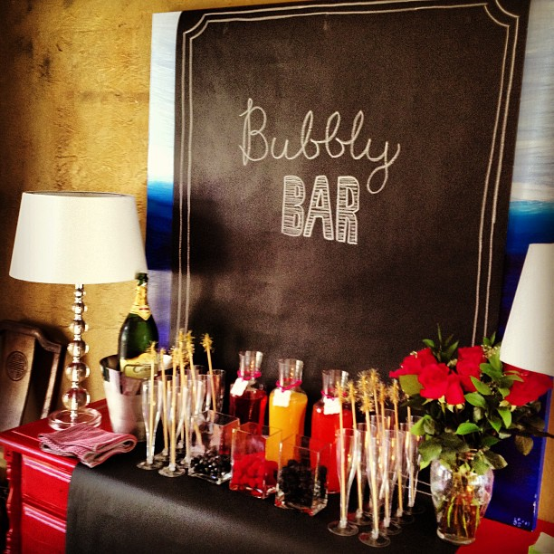 Easy Bubbly Bar for new Years Eve