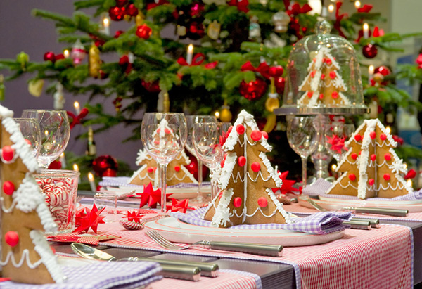Gingerbread Christmas Table