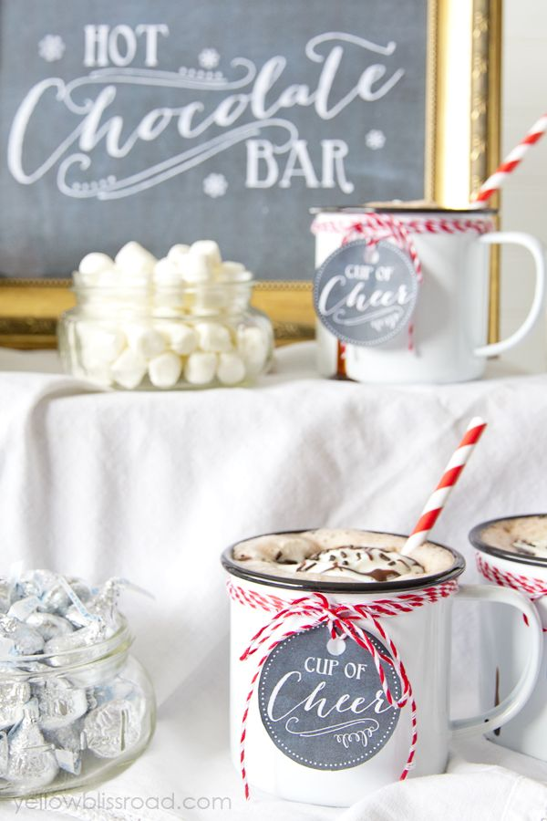 In love with this lovely Hot Chocolate bar!