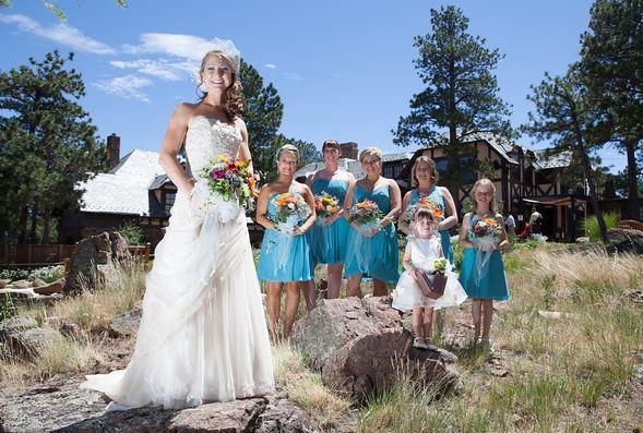 Bride and Bridesmaid Shot