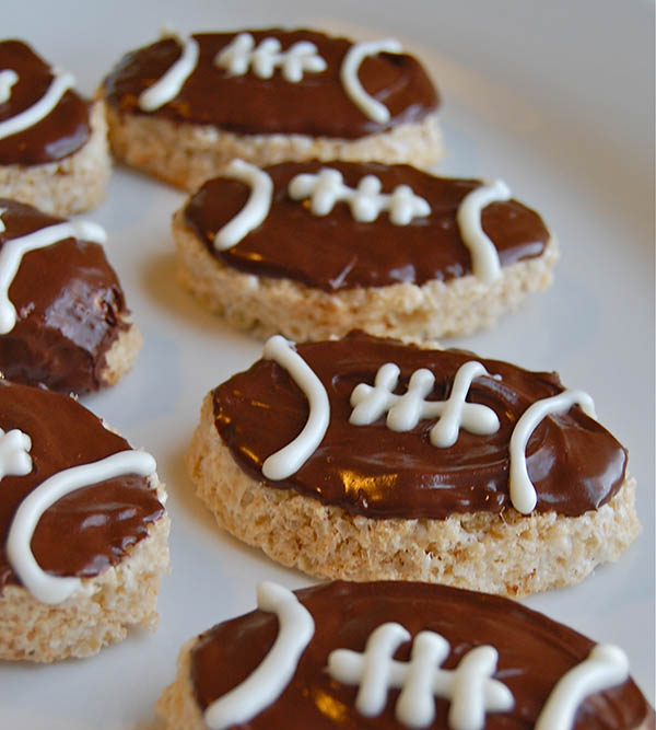 Football rice crispie treats
