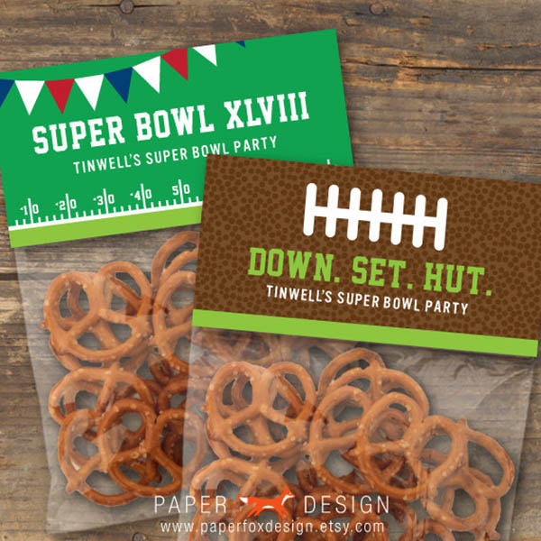 Super Bowl XLVIII bag toppers!