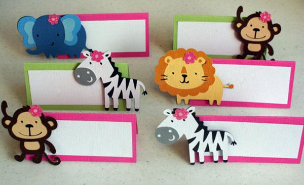 Darling girls safari food tags