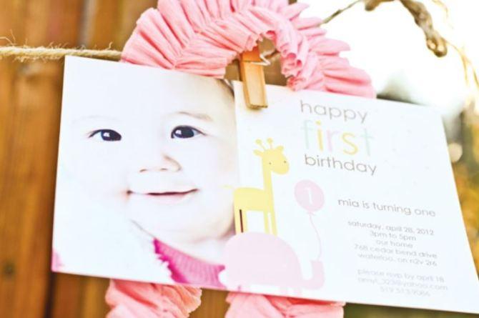 Girls Safari Birthday Invitation