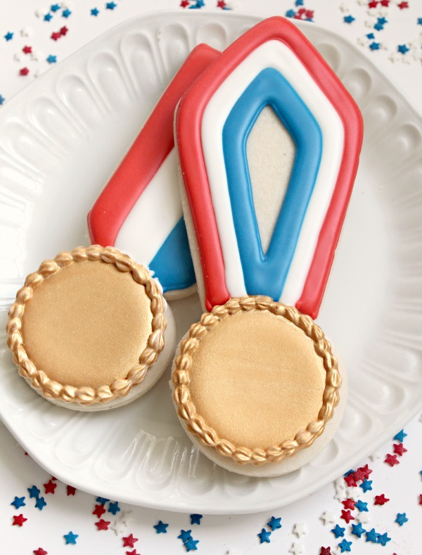 Gold medal cookies for the olympics!