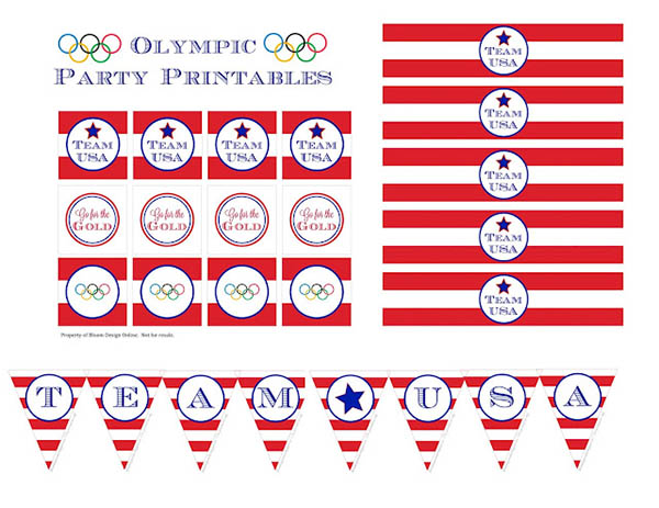 Olympic party team usa printables