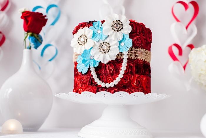 Red Valentines Cake